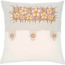 (OP=OP) Counted cross stitch cushion kit Vanilla flowers