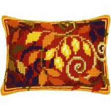 (OP=OP) Cross stitch cushion kit Autumn leaves