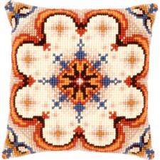 (OP=OP) Cross stitch cushion kit Rosette with blue