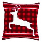 (OP=OP) Cross stitch cushion kit Jumping reindeer