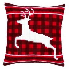 (OP=OP) Cross stitch cushion kit Jumping reindeer