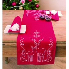 Table runner kit Deers and ice crystals