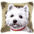 Latch hook cushion kit Westie