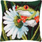 (OP=OP) Cross stitch cushion kit Red-eyed tree frog