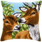 (OP=OP) Cross stitch cushion kit Deers