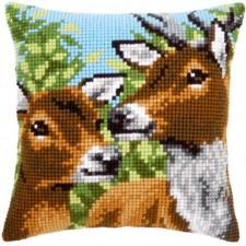 (OP=OP) Cross stitch cushion kit Deers