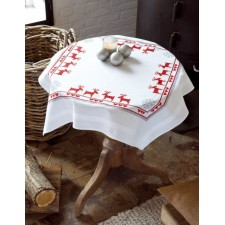 (OP=OP) Tablecloth Red Reindeers