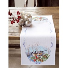 Aida table runner kit Tits on a branch