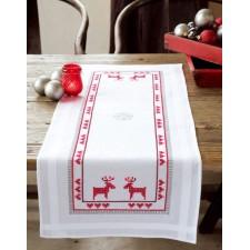 (OP=OP) Table runner kit Red reindeers