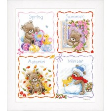 Counted cross stitch kit Popcorn 4 Seasons