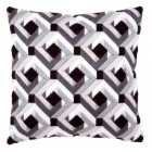Long stitch cushion kit Black & white