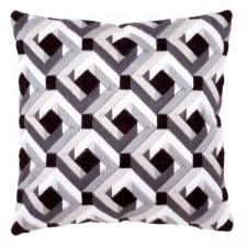 Long stitch cushion kit Black & white