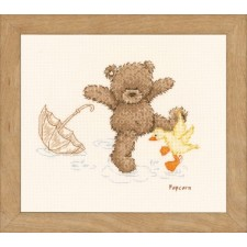 (OP=OP) Counted cross stitch kit Popcorn Splashing around