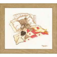 Counted cross stitch kit Popcorn Cuddle up