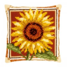 Cross stitch cushion kit Sunflower
