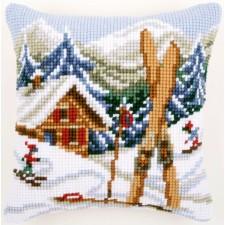 Cross stitch cushion kit Snow fun