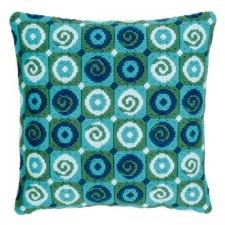 (OP=OP) Long stitch cushion kit Swirls
