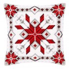 Cross stitch cushion kit Snow crystal I