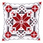 Cross stitch cushion kit Snow crystal II