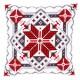 Cross stitch cushion kit Snow crystal II