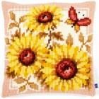 Cross stitch cushion kit Sunflowers
