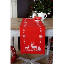 Table runner kit Christmas deers