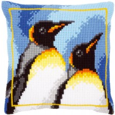 Latch hook cushion kit King penguins