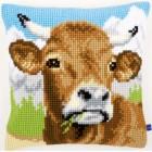 Cross stitch cushion kit Cow