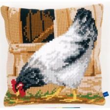 Cross stitch cushion kit Grey hen
