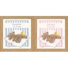 Counted cross stitch kit Popcorn bear&Soufflé duck