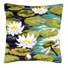 Cross stitch cushion kit Water lilies