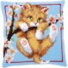Cross stitch cushion kit Hanging around