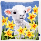 Cross stitch cushion kit Lamb