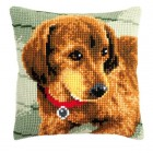 Cross stitch cushion kit Dachshund