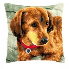 Cross stitch cushion kit Dachshund