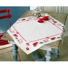 Aida tablecloth kit Coffee break