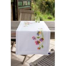 Table runner kit Little Bird and pansies