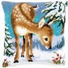 Cross stitch cushion kit A little deer