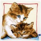 Cross stitch cushion kit Playful kittens
