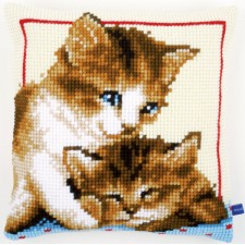 Cross stitch cushion kit Playful kittens