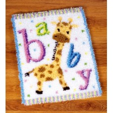 Latch hook rug kit Baby giraffe II