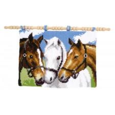Kruissteek wandtapijtje 3 paarden