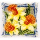 Latch hook cushion kit Daffodils