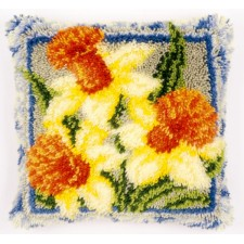 Latch hook cushion kit Daffodils