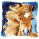 Latch hook cushion kit Brown horse