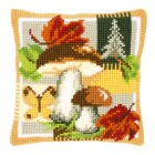 (OP=OP) Cross stitch cushion kit Mushrooms