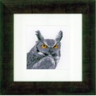 Counted cross stitch kit Grey owl