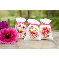 Bag kit Coneflowers and butterflies set of 3