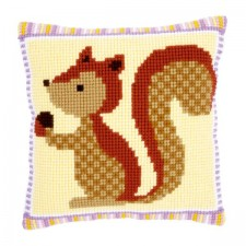 Cross stitch cushion kit Squirrel with acorn