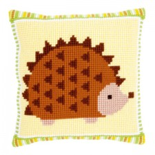 Cross stitch cushion kit Baby hedgehog